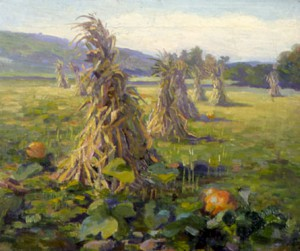 Marion Canfield Smith, A Cornfield, oil on canvas, c.1920-1922