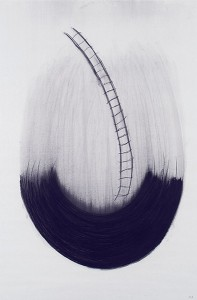 Jackie Abell, Up, charcoal on paper, 2005