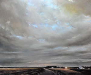 Jennifer Homan, Meandering Skies, pastel, 2014, collection of the artist