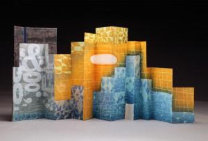 Karen Kunc, Incessant White Noise,  print & mixed media, 2013