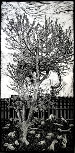 Homage to Van Gogh's Homage to Hiroshige's Flowering Plum tree