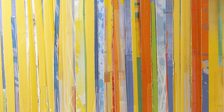 Tom Prinz, Line 1 (diptych), mixed media on paper