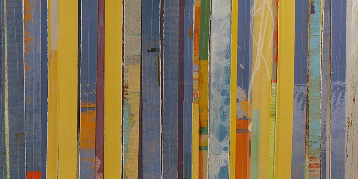 Tom Prinz, Line 2 (diptych), mixed media on paper