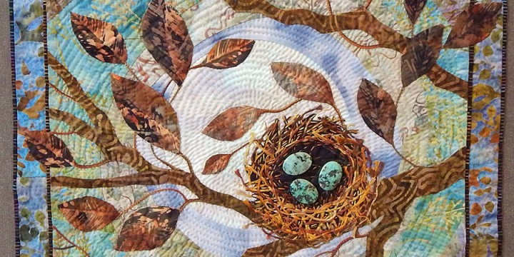 Molly, Anderson, Bird Nest, cotton, natural stones