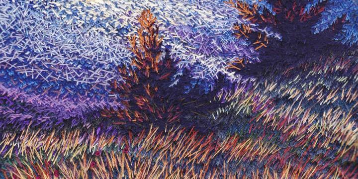 Roberta Barnes, Signs of Hope, thread painting