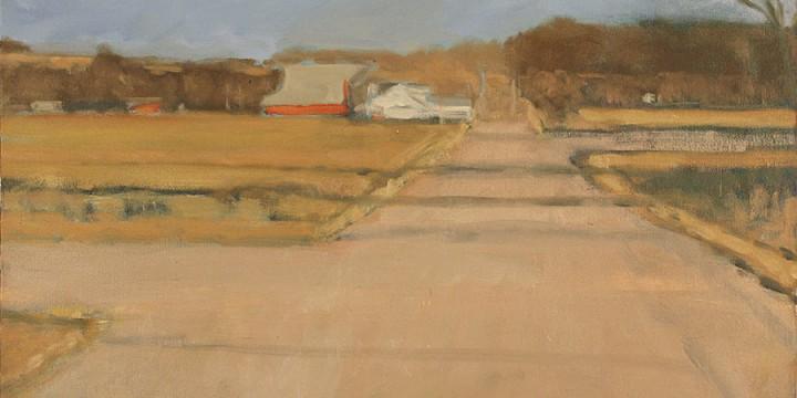 Stephen Dinsmore, The Red Barn, oil