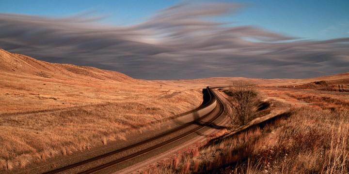 Brett Erickson, High Plains Train, photograph