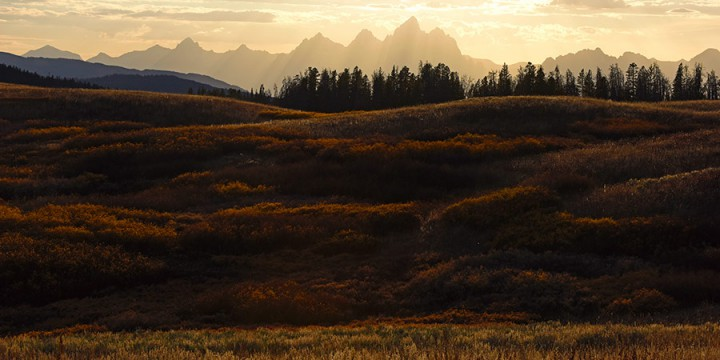 Michael Forsberg, Teton Sunset from Togwotee Pass, color photograph as chromogenic print