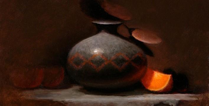 Jeremy Gooding, Gray and Orange, oil