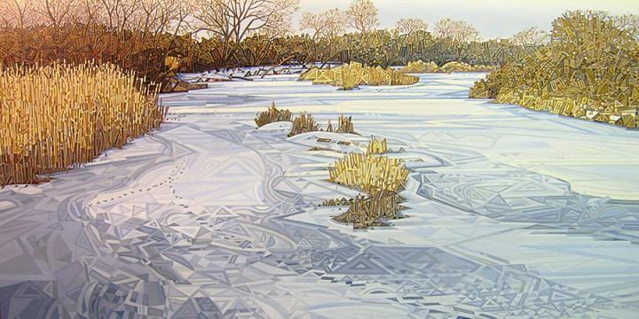 Doug Johnson, Dawn's Later Light, oil on linen