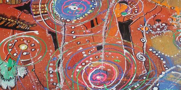 Jack Karraker, Birds Eye View of the World, acrylic