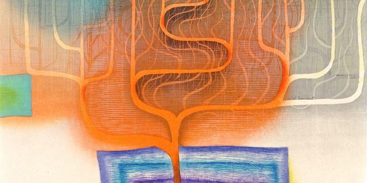 Karen Kunc, Wild Remnaut, woodcut print on Japanese paper