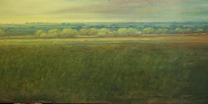 Keith Lowry, North From 70th, oil