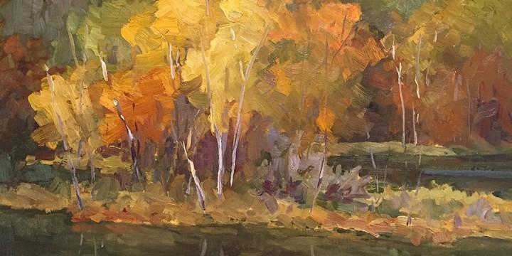 Ann Pape, Washboard Pond, oil