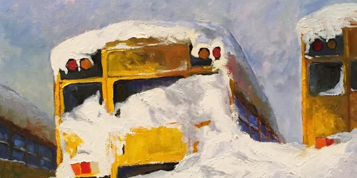 Ann Pape, Snow Day, oil
