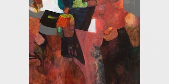 Patsy Smith, Kite Festival, watercolor on board