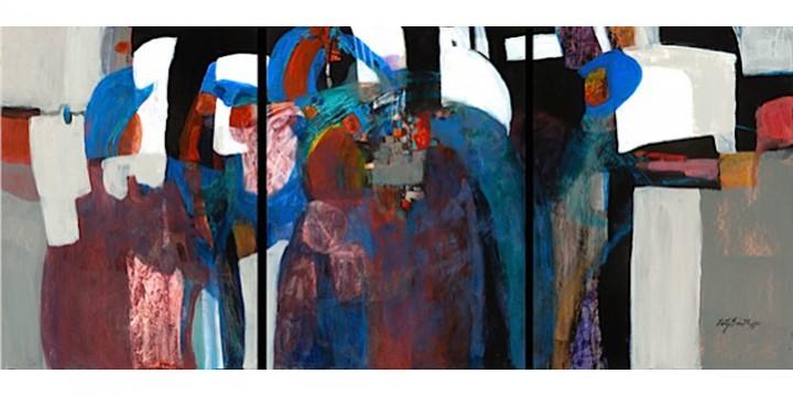 Patsy Smith, Progressive Bridge, watercolor on board