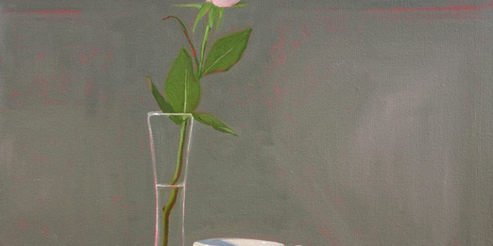 Carol Ronin Thompson, Pink Rose, oil on canvas