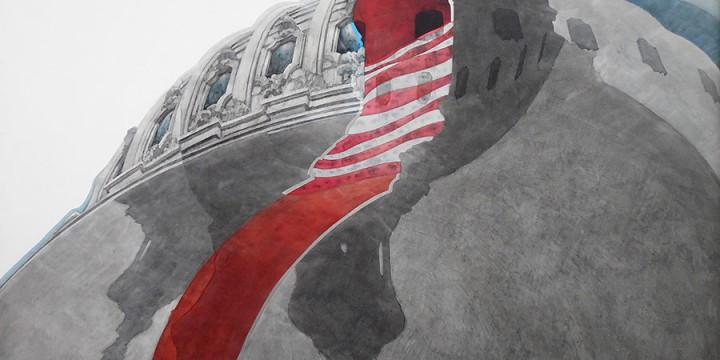 Allan Tubach, No. 775 Dome Shadows, acrylic on panel