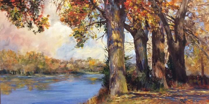 Virginia Wattles, Cottonmill Lake, Kearney, oil