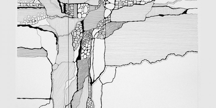 Martin Wilke, The Sky, the Prairie and the Aquifer, ink on archival paper