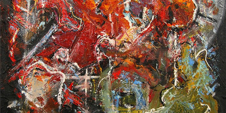 Mark Hartman, Gods Eye, acrylic