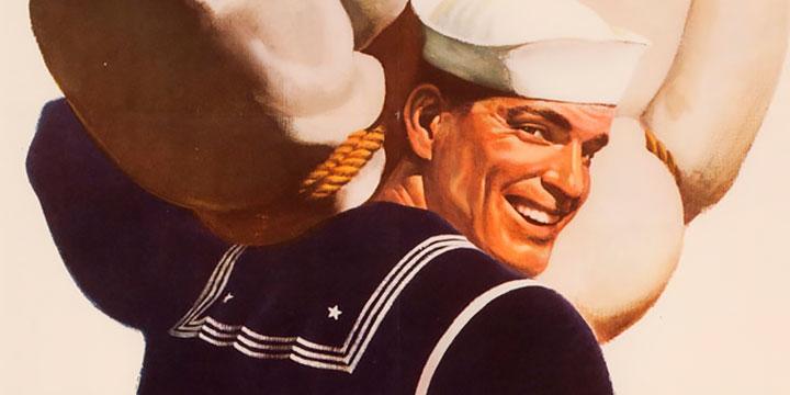 John Falter, If You Tell Where He's Going, 1940s poster