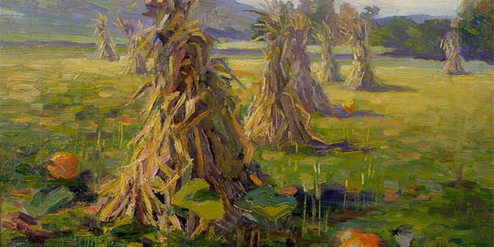 A Cornfield, Marion Canfield Smith, oil on canvas, c.a. 1922