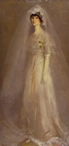 Robert Henri, Portrait of Eulabee Dix (Becker) in Her Wedding Gown, oil, 1910