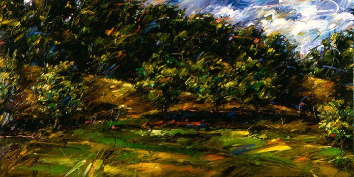 Dan Howard, Summer - Nebraska, oil on canvas, 1980