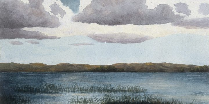 Alice Cumbow, Near the River, watercolor, n.d.