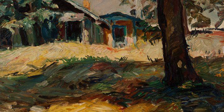 Augustus Dunbier, R. F. Gilder Home, oil, 1933