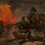 Emery Abraham (Donald) Forbes, The Night the Barn Burned, oil on board, 1934