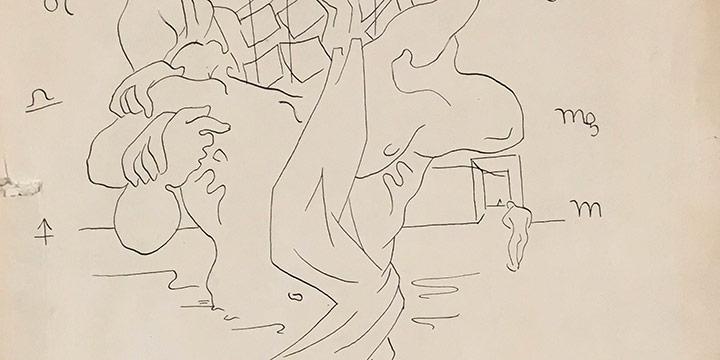 Emery Abraham (Donald) Forbes, Zodiac, ink, 1931