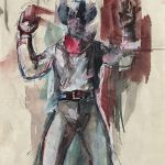 Emery Abraham (Donald) Forbes, Cowboy, watercolor, n.d.