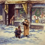 Grant Reynard, Christmas Music #2, watercolor, n.d.