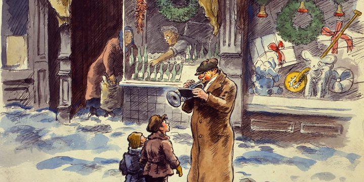 Grant Reynard, Christmas Music #2, watercolor.n.d.