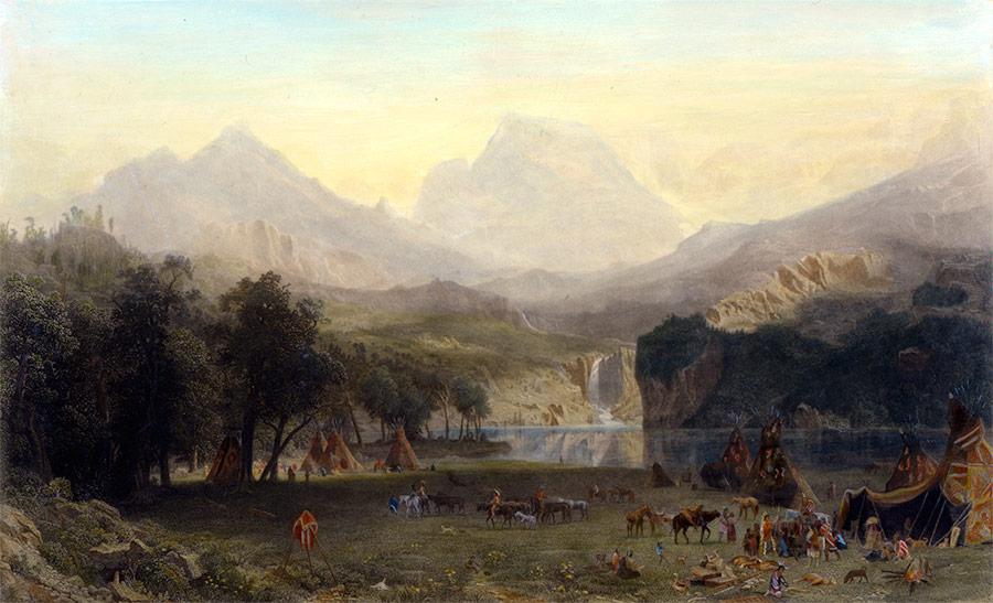 analysis albert bierstadt s rocky mountains lander s peak