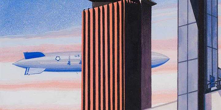 Terence R. Duren, Untitled (1933 design for World's Fair poster), gouache, 1933