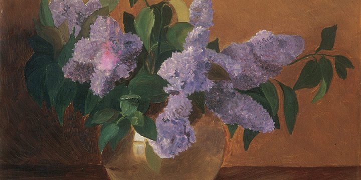 Minnie Stuff, Lilacs, oil on canvas, n.d.