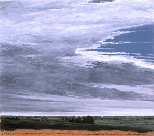Keith Jacobshagen, North of Crab Orchard, oil, 1985