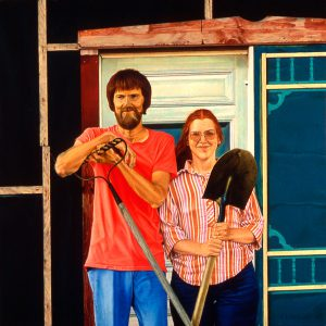 Earnest Ochsner, Ed and Jane Dadey, oil, 1982