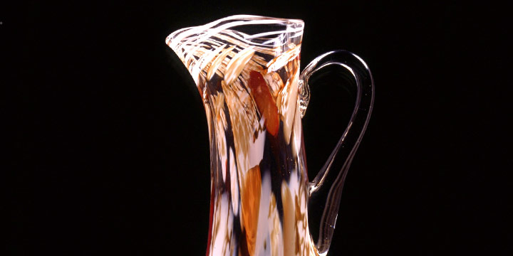 Ray W. Schultze, Untitled (carafe), blown glass, 1987