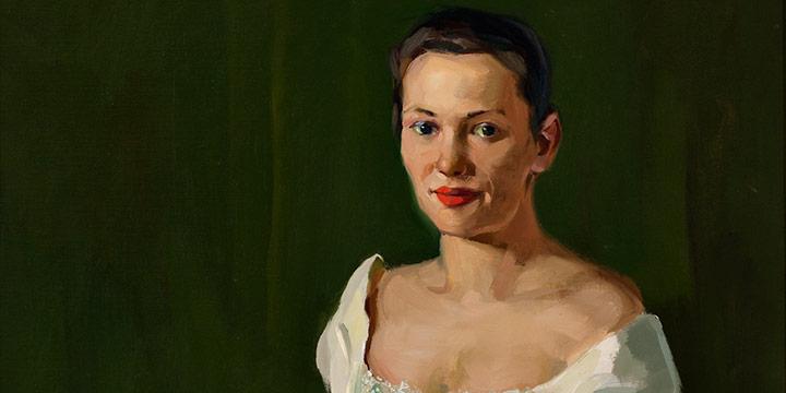 Augustus W. Dunbier, Portrait of Jan Farrell (in Aksarben gown), oil, 1958