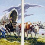 Thomas Hart Benton, The Covered Wagon, gouache, ink, 1945