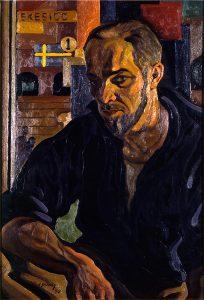 John Pusey, Portrait of a Cub Reporter (Leonard Thiessen), oil, 1940