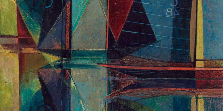 Myra Biggerstaff, Regatta - Racing Boats, oil, c. 1960