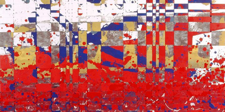 Larry Schulte, Fibonacci: Red Field, acrylic on paper, 1989