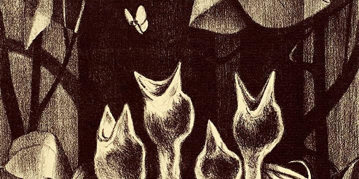 Myra Biggerstaff, Spring Quartet, lithograph (22/25), c. 1960s