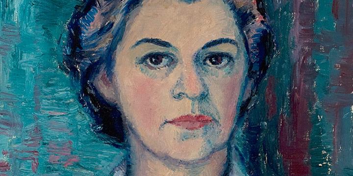 Myra Biggerstaff, Self-Portrait, oil, 1950